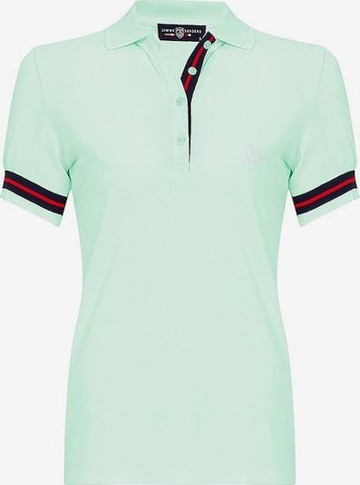 Jimmy Sanders Poloshirt in mint / rot / schwarz, Produktansicht