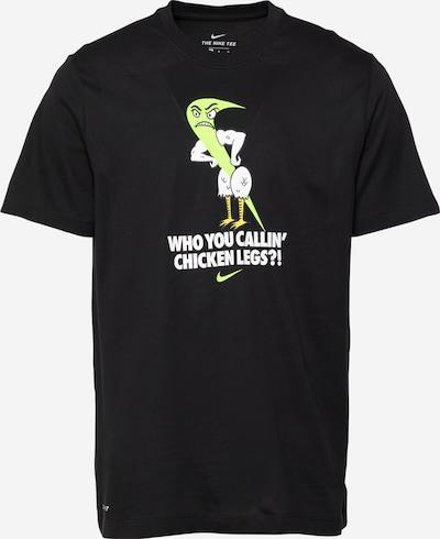 NIKE T-Shirt fonctionnel en jaune clair / noir / blanc, Vue avec produit