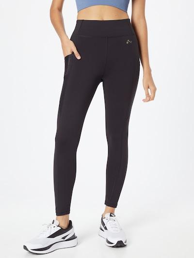 ONLY PLAY Športové nohavice 'Obia' - čierna / biela, Model/-ka