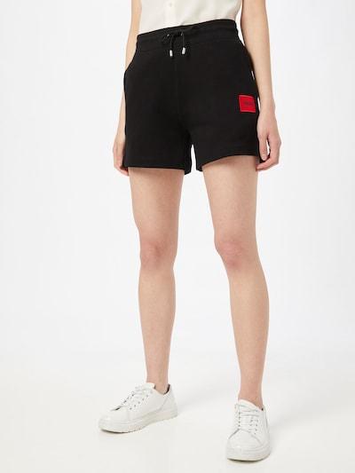 HUGO Shorts 'Narora' in schwarz, Modelansicht