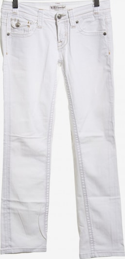 Francomina Slim Jeans in 27-28 in weiß: Frontalansicht