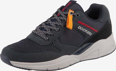 Dockers by Gerli Sneaker in dunkelblau / gelb / rot, Produktansicht