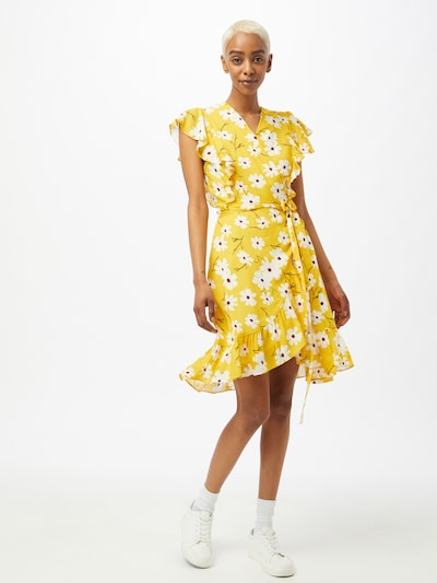 Paisie Šaty 'Ocean Frill' - žltá / krvavo červená / čierna / biela: Pohľad spredu