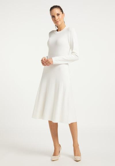 DreiMaster Klassik Strickkleid in weiß, Modelansicht