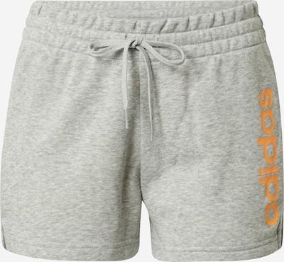 ADIDAS PERFORMANCE Pantalon de sport en gris chiné / mandarine, Vue avec produit