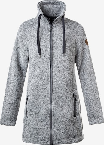 Weather Report Athletic Fleece Jacket 'LILIANA LONG' in Grey