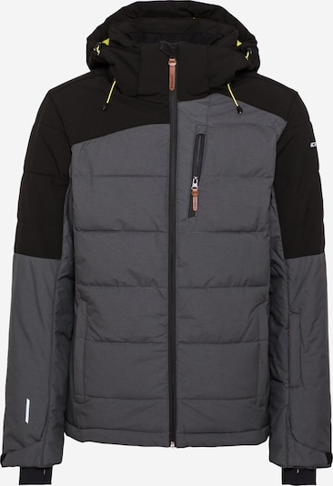 ICEPEAK Jacke 'CHANUTE' in neongelb / dunkelgrau / schwarz, Produktansicht