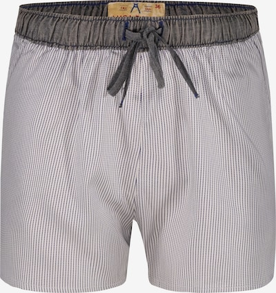 Luca David Pyjama-Shorts 'Olden Glory' in braun / grau / weiß, Produktansicht