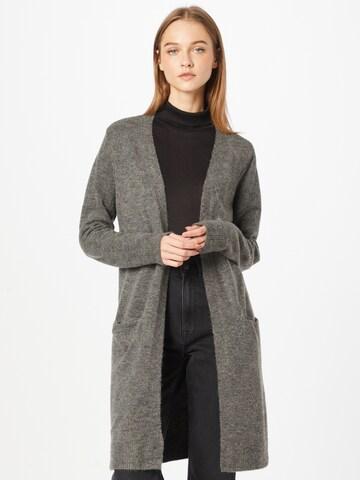 PIECES Knit Cardigan 'Chapa' in Grey