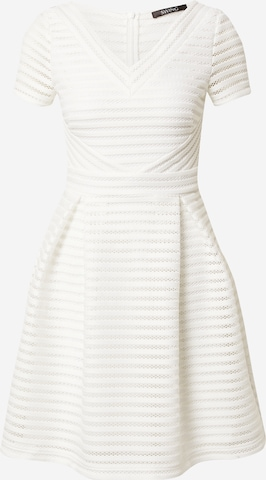 SWING Sukienka koktajlowa w kolorze biały
