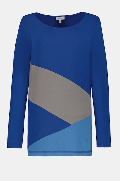 Gina Laura Gina Laura Damen Shirt, Colorblocking, Langarm 725421 in blau / grau, Produktansicht