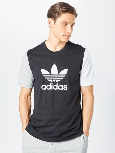 ADIDAS ORIGINALS Тениска в черно / бяло: Изглед отпред