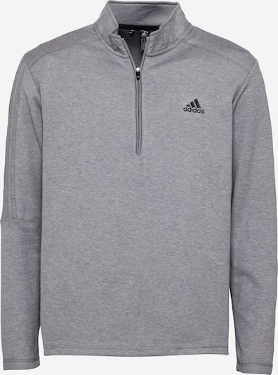 adidas Golf Спортен блузон с качулка в сив меланж / черно, Преглед на продукта