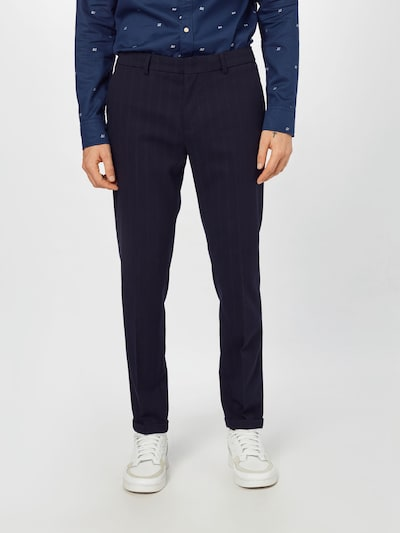 SCOTCH & SODA Trousers with creases 'MOTT' in Navy, View model