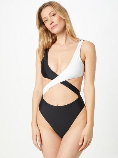 hunkemöller x NA-KD Badeanzug in schwarz / weiß, Modelansicht