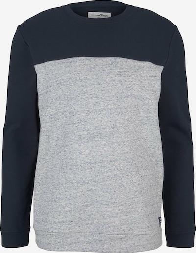 TOM TAILOR DENIM Sweatshirt in dunkelblau / hellgrau, Produktansicht