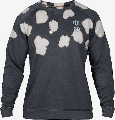 MOROTAI Sportsweatshirt 'Batech' in dunkelgrau / weiß, Produktansicht