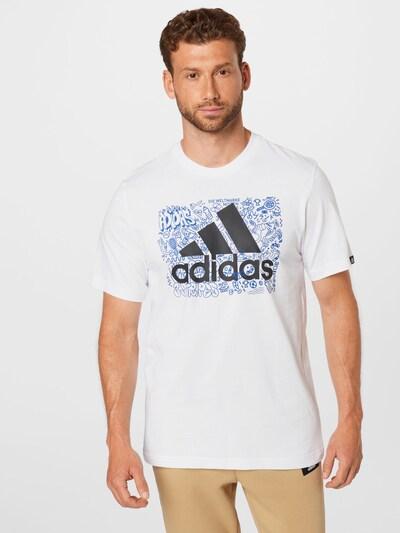ADIDAS PERFORMANCE Функционална тениска в кралско синьо / черно / бяло: Изглед отпред