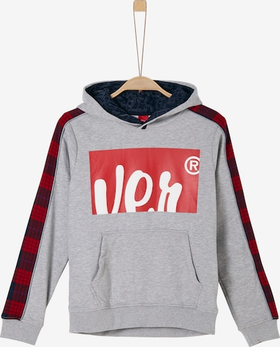 s.Oliver Sweatshirt in grau / rot / dunkelrot / weiß, Produktansicht