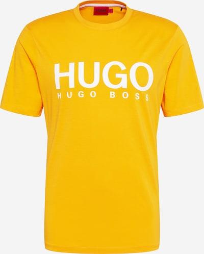 HUGO Shirt 'Dolive' in de kleur Sinaasappel / Wit, Productweergave