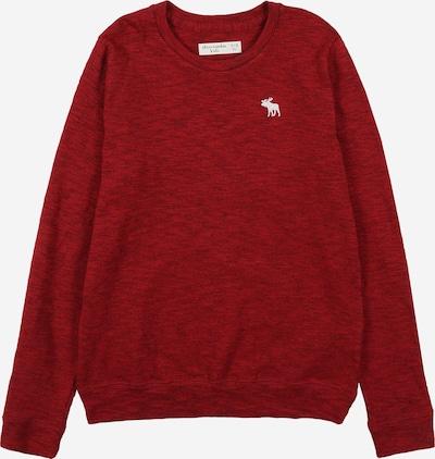 Abercrombie & Fitch Pullover in rot / dunkelrot / weiß, Produktansicht