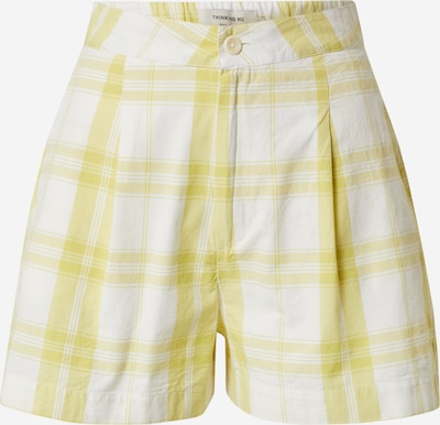 Pantaloni cutați Thinking MU pe galben / alb, Vizualizare produs