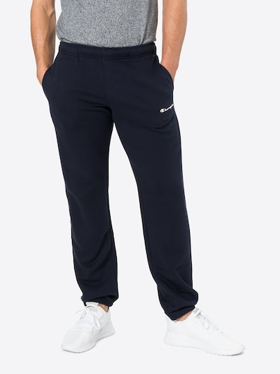 Champion Authentic Athletic Apparel Broek in de kleur Nachtblauw / Rood / Wit, Modelweergave