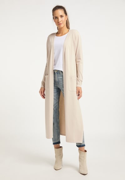 DreiMaster Vintage Gebreide mantel in de kleur Beige, Modelweergave