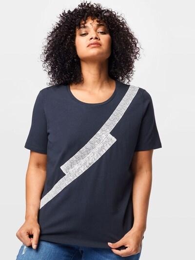 Persona by Marina Rinaldi T-shirt 'VANDA' en marine / blanc: Vue de face