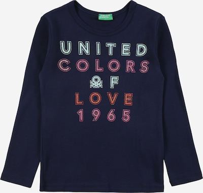 UNITED COLORS OF BENETTON Shirt in light blue / dark blue / light pink / red, Item view
