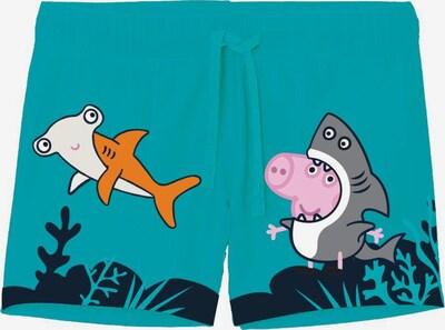Pantaloncini da bagno 'Peppa Pig' NAME IT di colore marino / turchese / pietra / arancione / rosa, Visualizzazione prodotti