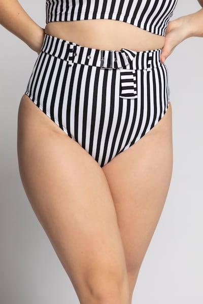 Studio Untold Bikinibroek in de kleur Marine / Wit, Modelweergave