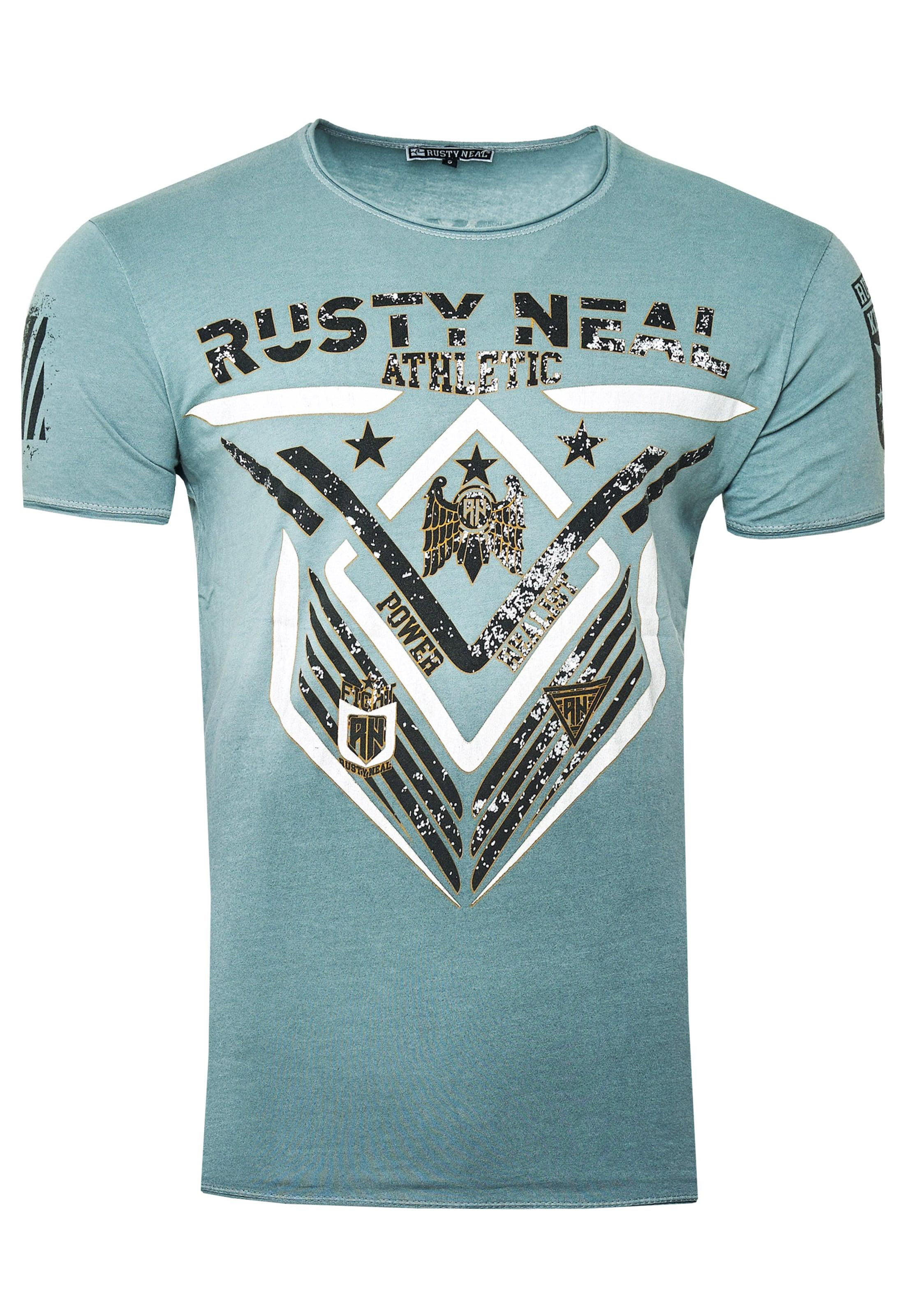 Rusty Neal T-Shirt aus formbeständiger Baumwolle in grau Baumwolle 3059882