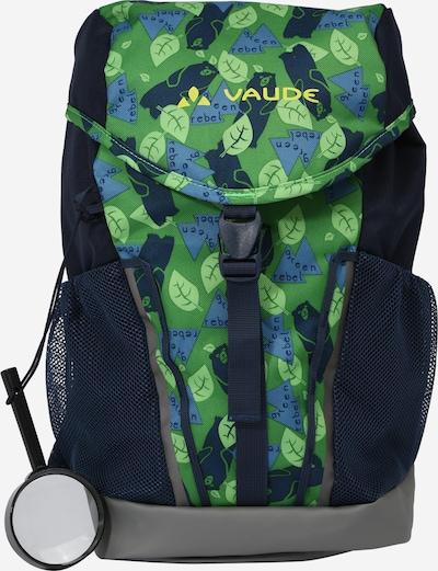 VAUDE Športový batoh 'Puck 10' - námornícka modrá / tmavosivá / svetlozelená, Produkt