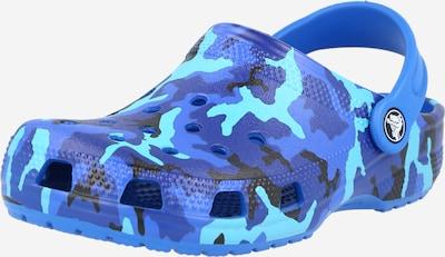 Crocs Claquettes / Tongs en bleu / turquoise / noir, Vue avec produit
