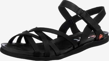 ART Strap Sandals 'Larissa' in Black