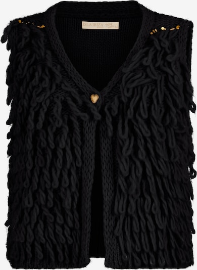 Isla Ibiza Bonita Gilet Knitted in schwarz, Produktansicht