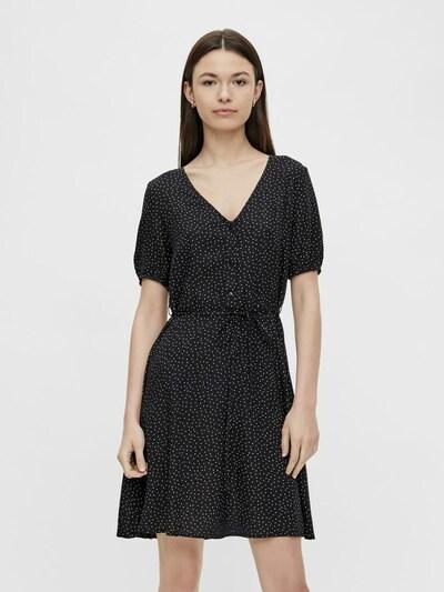PIECES Kleid in schwarz / weiß, Modelansicht
