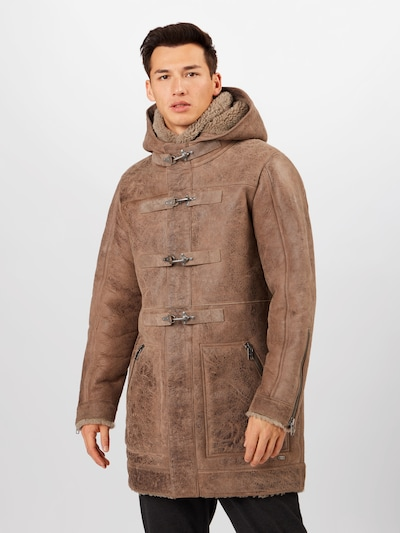 tigha Manteau d'hiver 'Forest' en marron, Vue avec modèle