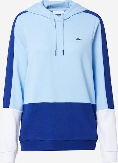 Lacoste Sport Sportska sweater majica u plava / opal / bijela, Pregled proizvoda
