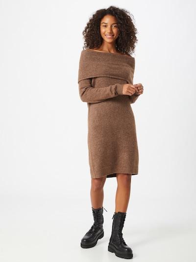 ONLY Gebreide jurk 'Marli' in de kleur Roestbruin, Modelweergave
