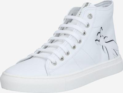 Sneaker înalt PATRIZIA PEPE pe negru / alb, Vizualizare produs