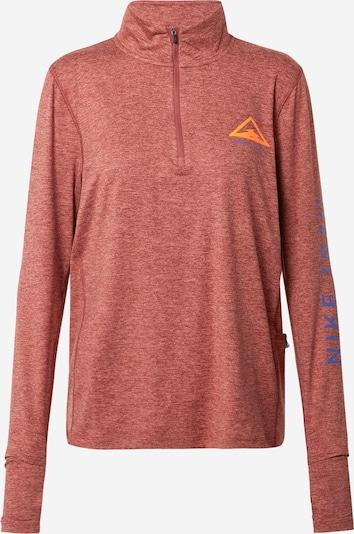 NIKE Sporta krekls zils / zeltaina kastaņkrāsa / oranžs, Preces skats