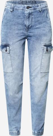 Soccx Klapptaskutega teksapüksid 'CAR:LA', värv sinine