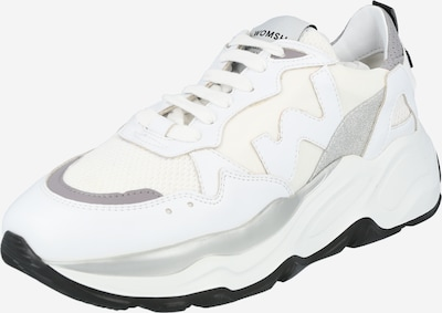 WOMSH Baskets basses en gris / violet clair / argent / blanc, Vue avec produit
