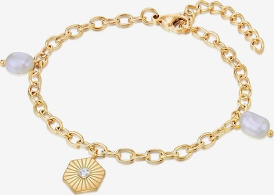 Valero Pearls Edelstahl-Armband in goldgelb, Produktansicht