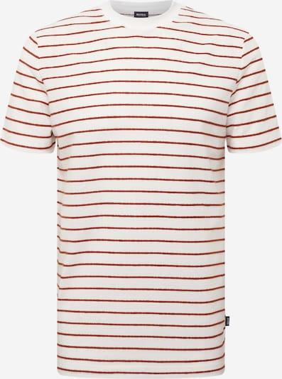 BOSS Shirt 'Tiburt' in de kleur Roestbruin / Wit, Productweergave