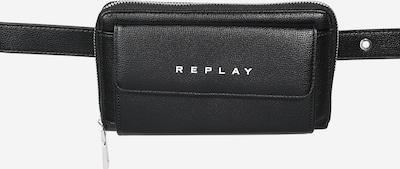 REPLAY Torbica za okrog pasu | črna / bela barva, Prikaz izdelka