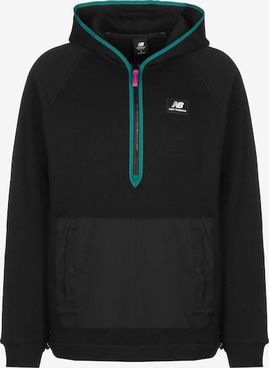 new balance Sweatshirt in de kleur Petrol / Zwart, Productweergave