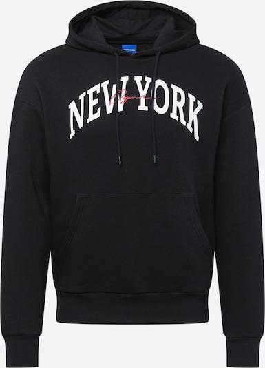 JACK & JONES Sweater majica 'HYPE' u crvena / crna / bijela, Pregled proizvoda